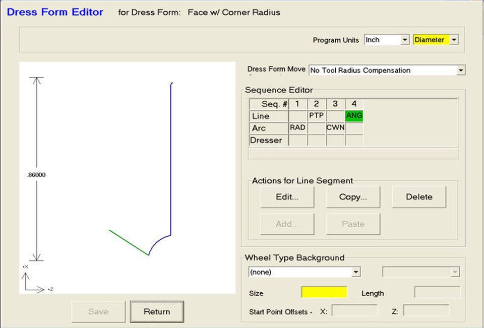 Open Vision™ Grind - Dress Editor