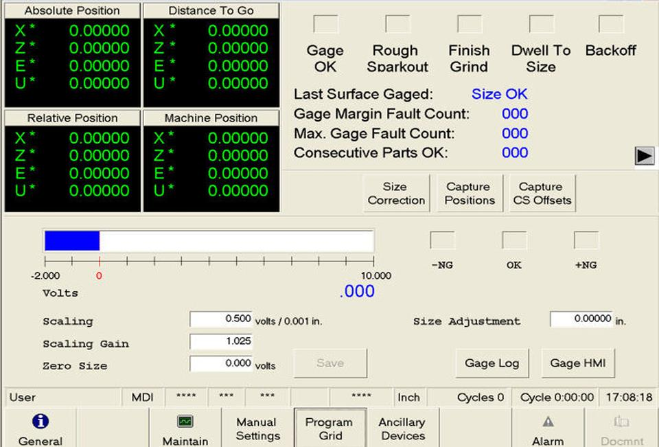 Open Vision™ Grind - Integrated In-Process Gage Setup