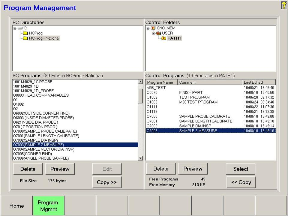 Open Vision™ Mill/Turn - Program Management