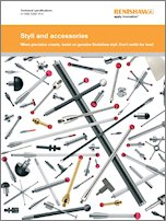 Renishaw Styli and Accessories Technical Specs