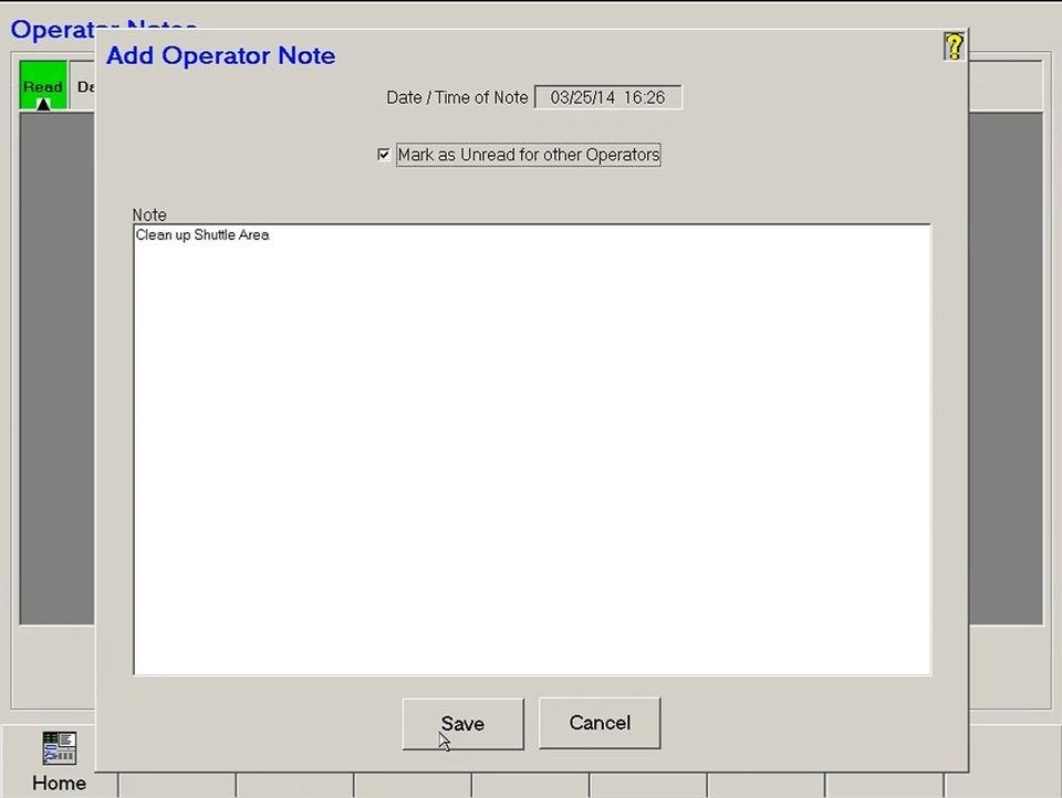 Cell Control - Operator Notes