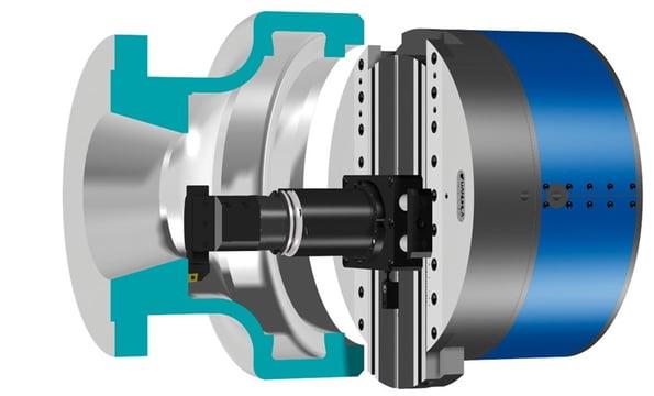 cutaway view of the viewtronic u-axis drive